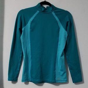 Fantastic Reebok teal aqua long sleeve top, L